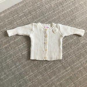OshKosh White Crocheted Sweater